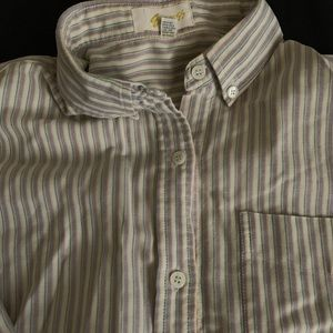 VINTAGE Long sleeve, striped button down shirt